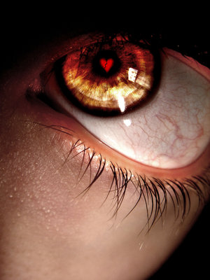 broken heart  in eye