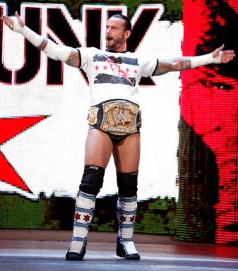 CM Punk auf dem Weg zu seinem Match