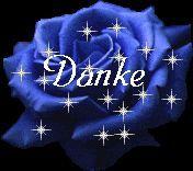 danke mit einer blauen rose