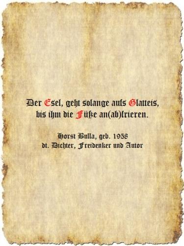 Der Esel - Zitat Horst Bulla