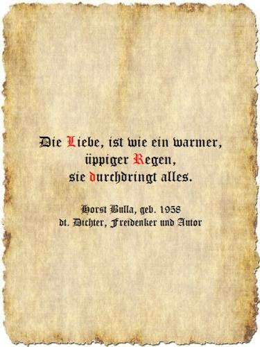 Die Liebe - Zitat Horst Bulla