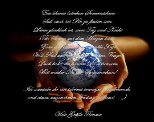 Erde in Hände