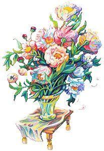 Gefüllte Blumenvase