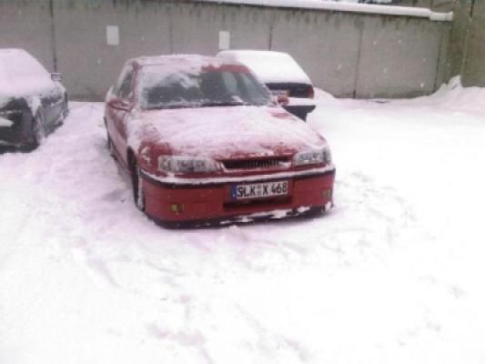 Gerade beim Schnee schieben
