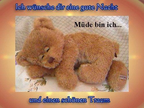 ich wünsche dir eine gute nacht und ein schönen traum