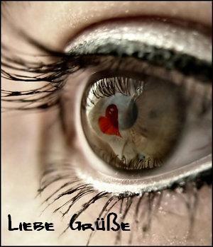 Liebe Grüße mit Auge