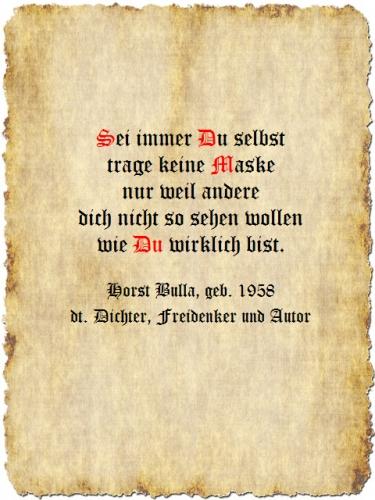 Sei immer Du selbst - Zitat Horst Bulla