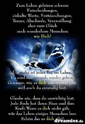 spruch+wunderb. mensch