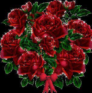 strauß roter rosen