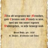 Allzu oft vergessen wir Menschen - Zitat Horst Bulla