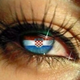 Auge mit Kroatischer fahne