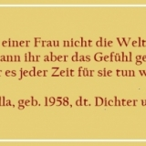 Bildzitat - Ein Mann kann einer Frau nicht - Zitat von Horst Bulla