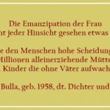 Bildzitat - Über Die Emanzipation - Zitat 2 von Horst Bulla
