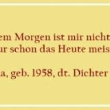 Bildzitat - Vor dem Morgen ist mir nicht bange - Zitat von Horst Bulla