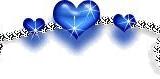 blaues herzband