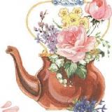 Blumen in Teekanne