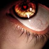 broken heart  in eye