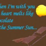 chocolate in the sun