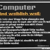 computer sind weiblich weil: