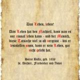 Das Leben, leben! - Zitat Horst Bulla
