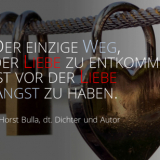 Der einzige Weg, der Liebe zu entkommen. - Horst Bulla, dt. Dichter und Autor