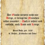 Der Glaube versetzt nicht nur Berge - Zitat Horst Bulla