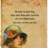 Die Liebe zu einer Frau - Zitat Horst Bulla