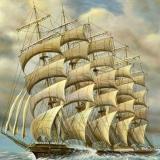 Die POreussen 5-Mast-Schiff