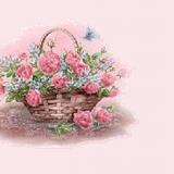 Ein Korb voll Blumen
