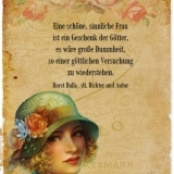 Eine schöne, sinnliche Frau  - Zitat Horst Bulla