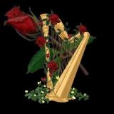 Harfe m. Rose