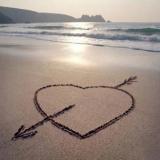 Herz am Strand I