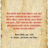 Ich werde mich nicht ändern - Zitat Horst Bulla