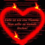 liebe ist wie eine flame