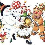 Schneemann mit Lebkuchen