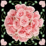zarter rosenstrauß